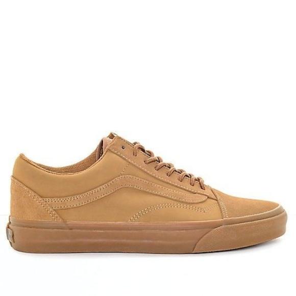d41de74622 Vans Old Skool Brown Skate Shoes Men s Sz 10.5